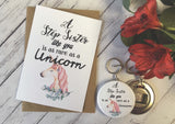 A Step Sister Like You is as rare as a Unicorn Wish Bracelet Charm Bracelet Birthday Sibling Gift Present Badge Magnet Keyring Mirror DD722