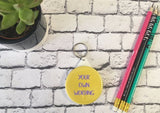 Custom Bespoke Personalised Badge Magnet Keyring Mirror Funny Rude Cute Retro Hen Stag Do Birthday Party Gift Present Wedding Favour Bright