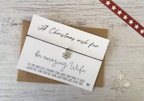 Wish Bracelet - A Christmas Wish for an Amazing Wife DD945
