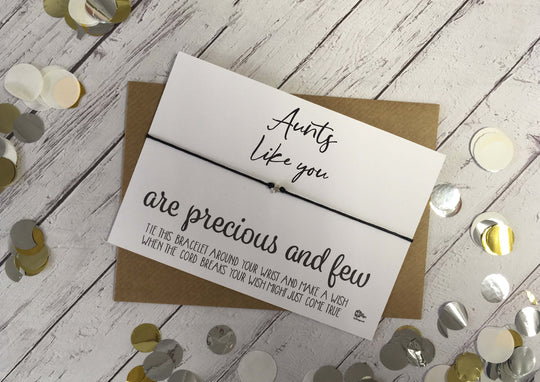 Wish Bracelet - Aunts Like You Are Precious And Few DD1051
