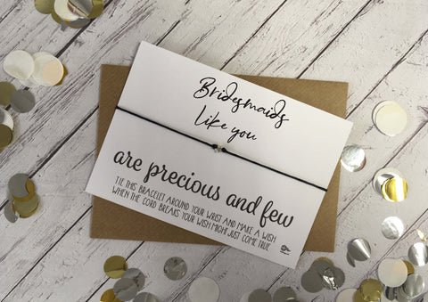 Wish Bracelet - Bridesmaids Like You Are Precious And Few DD1056