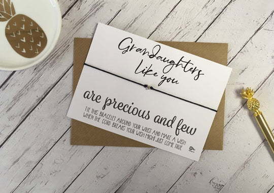 Wish Bracelet - Grandaughters Like You Are Precious And Few DD1078