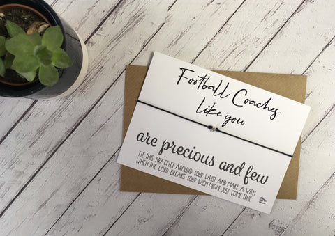 Wish Bracelet - Football Coaches Like You Are Precious And Few DD1068