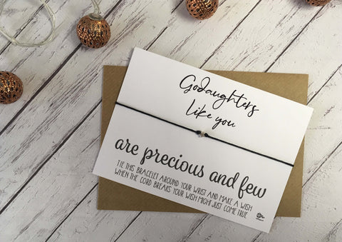 Wish Bracelet - Godaughters Like You Are Precious And Few DD1073