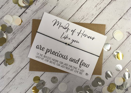 Wish Bracelet - Maids of Honour Like You Are Precious And Few DD1089