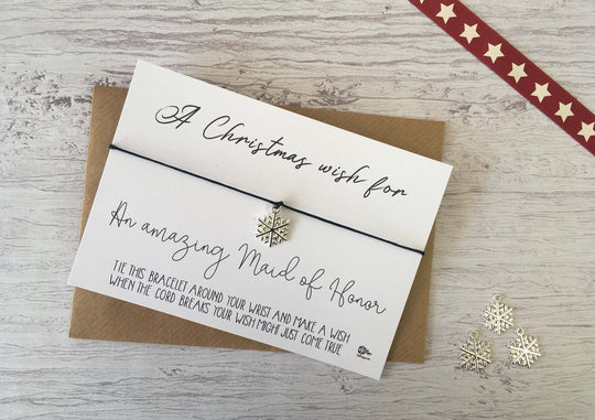 Wish Bracelet - A  Christmas Wish for an amazing Maid of Honor  DD1228