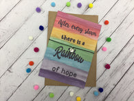 After every storm there is a rainbow of hope Wish Bracelet / Charm Bracelet Birthday Gift Present / Badge Magnet Keyring Mirror Medal
