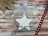 Ceramic Hanging Star / Merry Christmas to an amazing Daddy / Personalised message on back / Xmas Decoration / Christmas Gift /DD1315