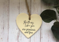 Ceramic Hanging Heart / Brothers like you are precious and few DD1376