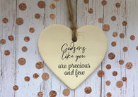 Ceramic Hanging Heart/ Godsons like you are precious and few DD1395