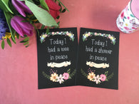 Mummy Journey Cards ® Chalkboard Floral DD004