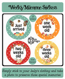 Weekly Milestone Stickers Forest Animals