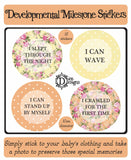 Developmental Journey Stickers - Bright Floral - DD057