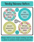 Monthly Journey Stickers - Bright Floral - DD050
