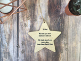 Wooden Hanging Star - Mums Are Like Stars
