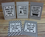 Alternative Baby Journey Cards Monochrome DD009
