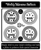 Weekly Journey Stickers - Monochrome - DD056