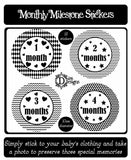 Monthly Journey Stickers - Monochrome - DD552