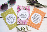 Bright Floral Mummy Journey Cards DD0023