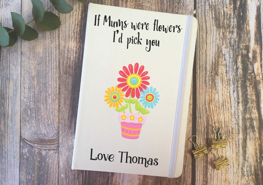 Personalised Lined Notepad - Mums Flowers DD287