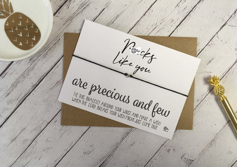 Sweary Wish Bracelet Pr*cks Like You Are Precious And Few /Choice of card, wood or foil print DD1446