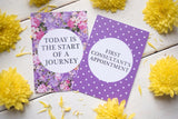Bright Floral IVF Journey Cards ® DD024