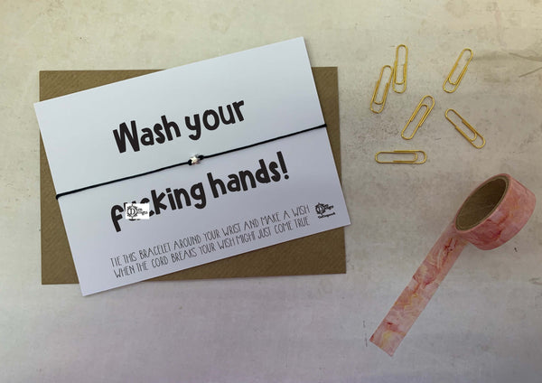 Sweary Wish bracelet - Wash your f*cking hands DD1595