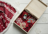Personalised Printed Xmas Eve Box - Blue Snowman DD152