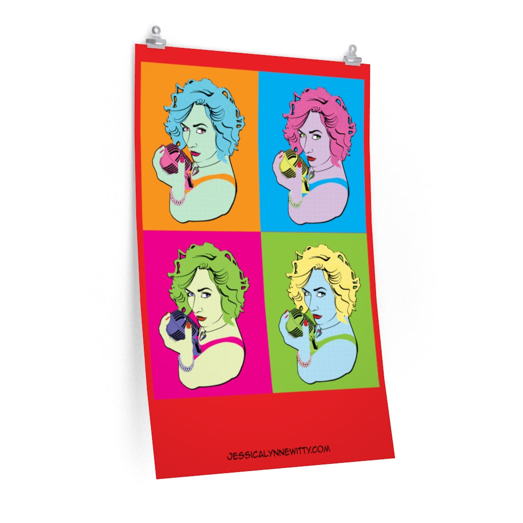 "Jessica Lynne Witty ""Warhol Style"" Art Poster Print"