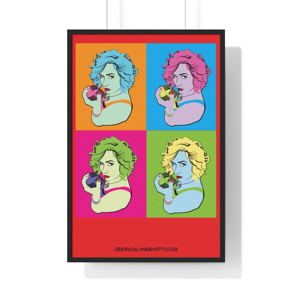 "Jessica Lynne Witty ""Warhol Style"" Art on Premium Framed Vertical Poster"