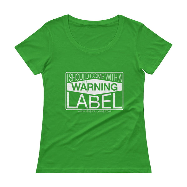 Jessica Lynne Warning Label Ladies' Scoopneck T-Shirt