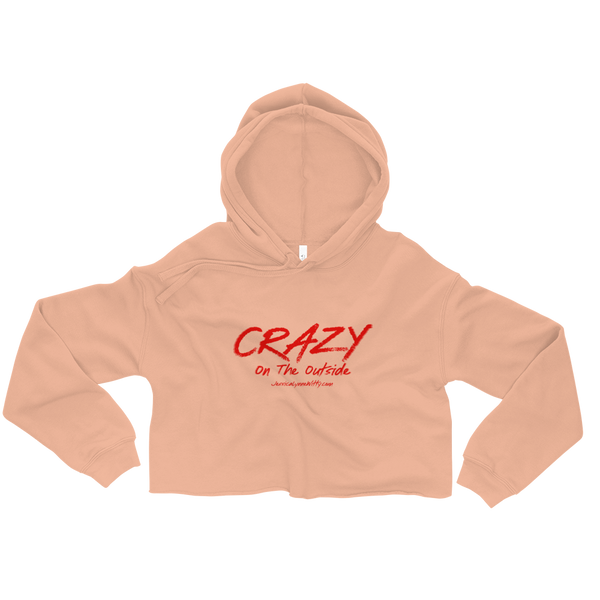 Jessica Lynne Witty Crazy On The Outside Women's Crop Hoodie