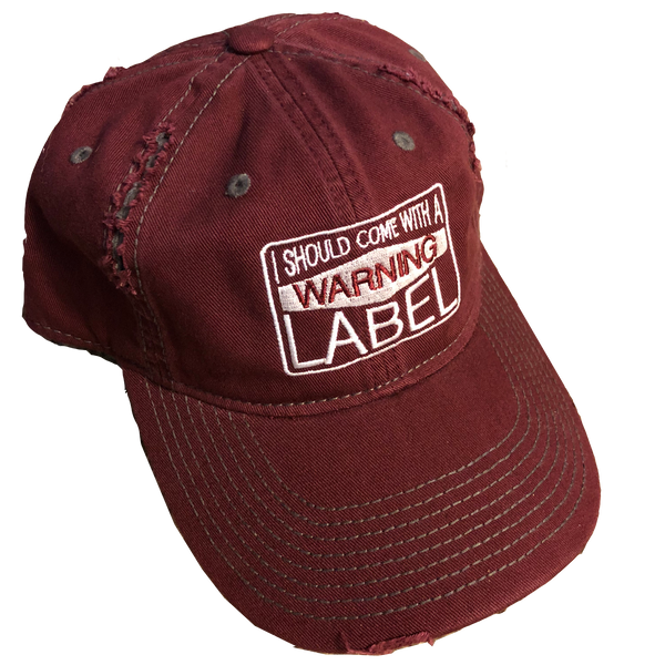 Jessica Lynne Warning Label Distressed Hat
