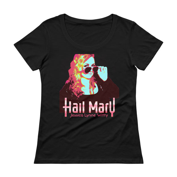 Jessica Lynne Witty Hail Mary Ladies' Scoopneck T-Shirt
