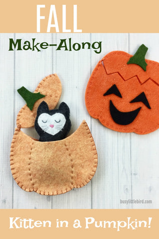 Fall Make-Along: Kitten in a Pumpkin!