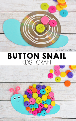 button snail arts and crafts for kids