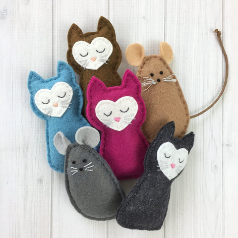 Pocket Kitties and Felt Mouse Friends
