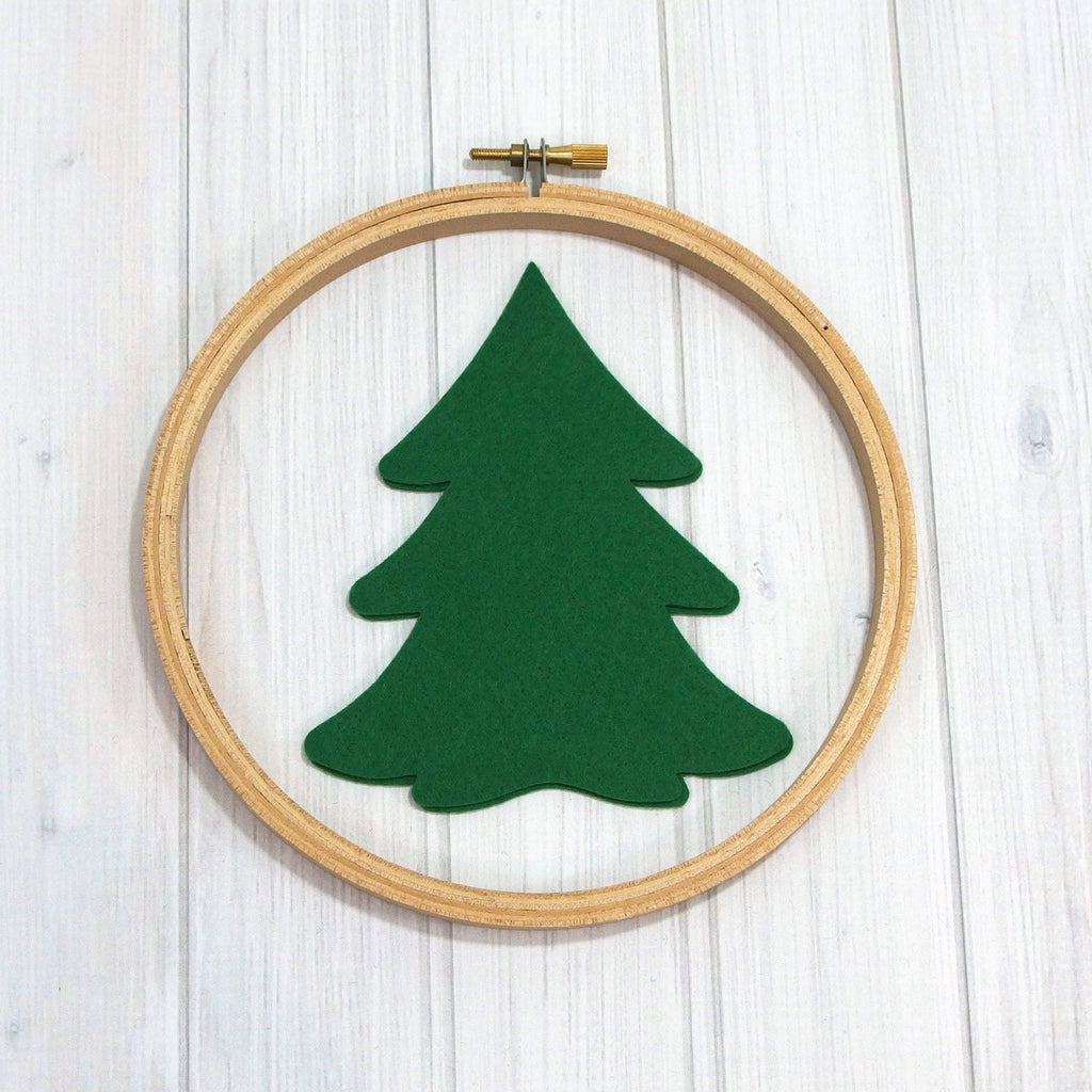 Felt Die Cuts, Evergreen Trees, 6 pieces - Busy Little Bird