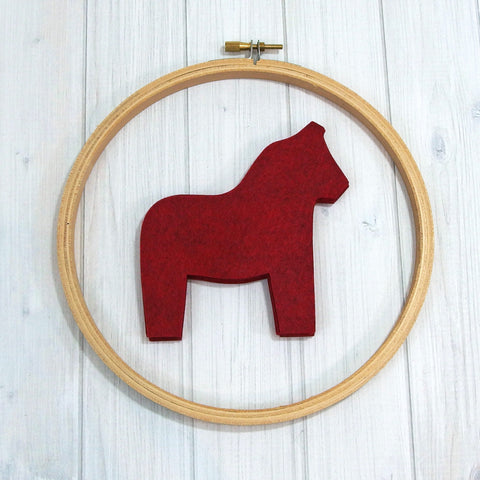 Felt Die Cuts, Dala Horse, 8 pieces - Busy Little Bird