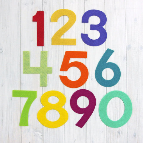 Felt Die Cuts, 3.5-inch Numbers - Busy Little Bird