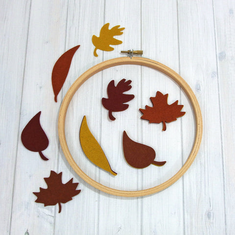 Felt Die Cuts, Autumn Leaves, 16 pieces - Busy Little Bird