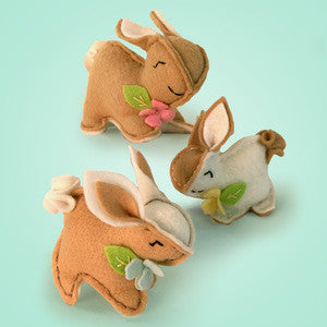 Felt Sewing Kit, Playful Bunnies, DIY Kit