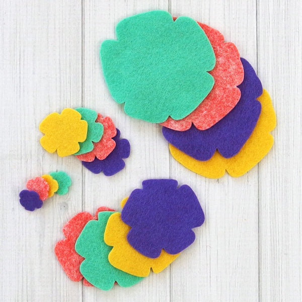 Flower Layers, Groovy - Felt Die Cuts, 16 pieces