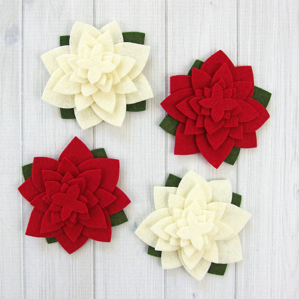 Flower Layers, Holiday Flower - Felt Die Cuts, 36 pieces