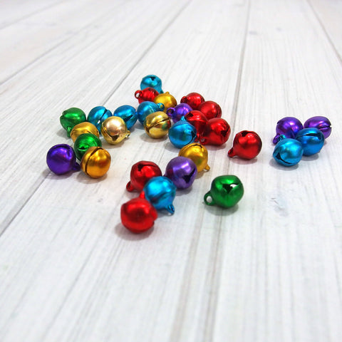 Mini Bells, Jewel Tone, 10 mm, 30 pieces - Busy Little Bird