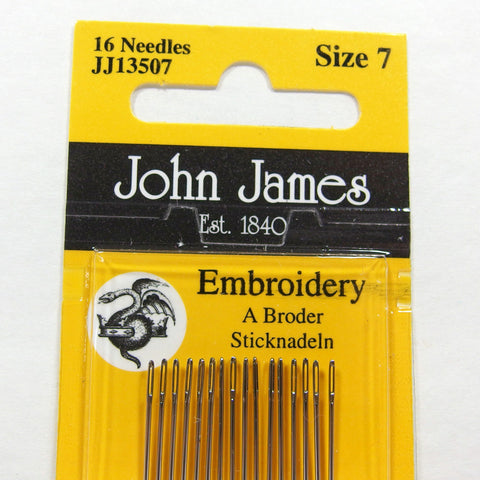 Embroidery Needles, Size 7, John James - Busy Little Bird