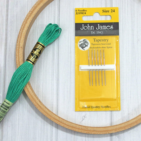 John James Tapestry/Cross Stitch Needles, Assorted Sizes - Busy Little Bird