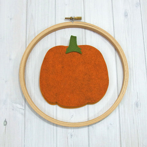 Felt Die Cuts, Large Pumpkins, 12 pieces - Busy Little Bird