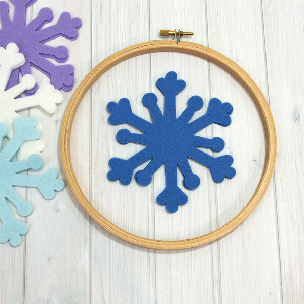 Felt Die Cuts, Snowflakes, 8 pieces (Snowflake 1) - Busy Little Bird