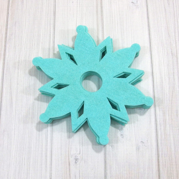 Felt Die Cuts, Large Snowflakes, 8 pieces (Snowflake 2) - Busy Little Bird